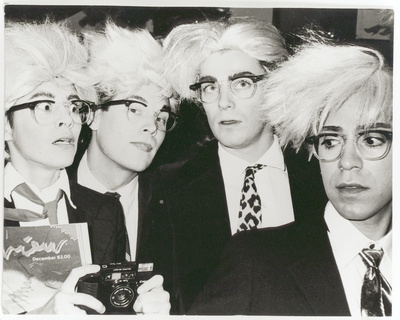 Four Men Wearing Andy Warhol Costumes, 1983