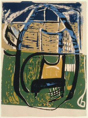 Cane Chair (Garden Furniture), 1954 By Peter Lanyon
