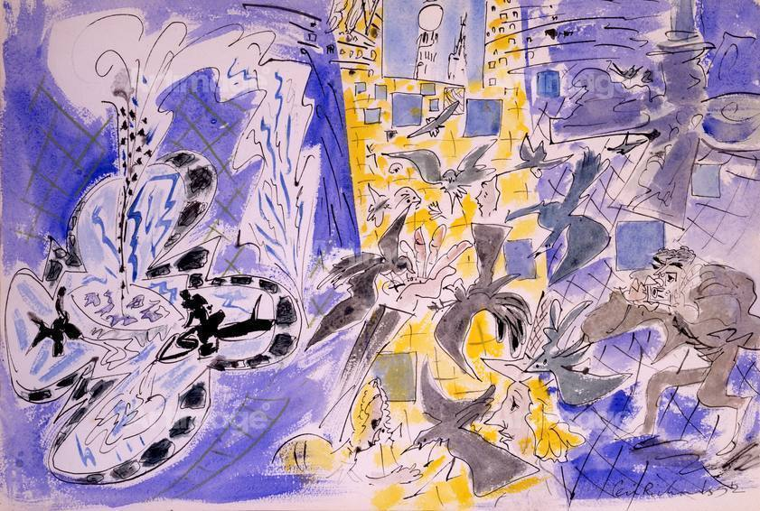 Trafalgar Square (Movement of Pigeons), 1952
