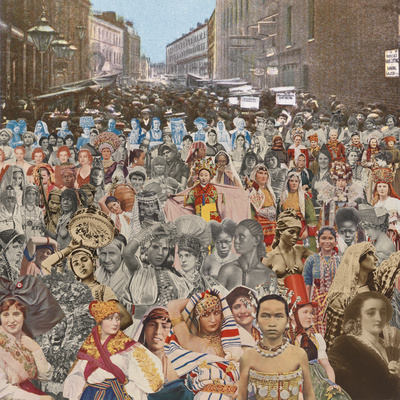 London: Petticoat Lane - One Hundred Women, 2012 By Peter Blake