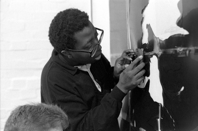Donald Rodney, at Chisenhale Gallery Workshop, 1989