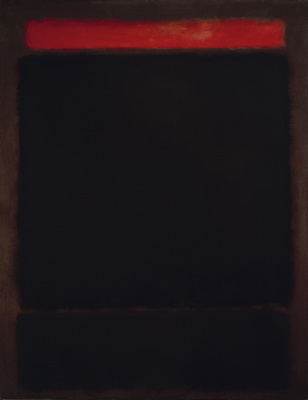 No. 5 (Red, Black and Brown-Black), 1963