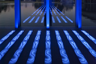 Kind of Blue, 2012 (detail). (Permanent installation: Modern...