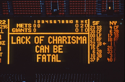 from Truisms, 1977-79 (Installation view, Jenny Holzer: Sign...