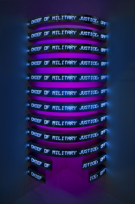 Thorax, 2008 (Installation view, Cheim & Read, Armory Show, ... By Jenny Holzer