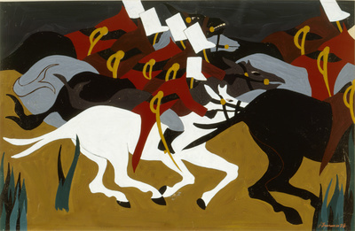 The Life of Toussaint L'Ouverture #34: Toussaint defeats Nap... By Jacob Lawrence