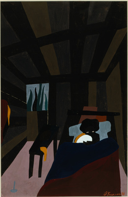 The Life of Toussaint L'Ouverture, #6: The birth of Toussain... By Jacob Lawrence