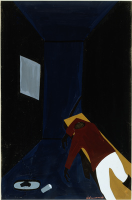 The Life of Toussaint L'Ouverture, #39: The death of Toussai... By Jacob Lawrence