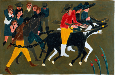 The Life of Frederick Douglass, 1939, Panel 13:  As the time... By Jacob Lawrence