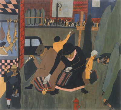 Christmas, 1937 By Jacob Lawrence