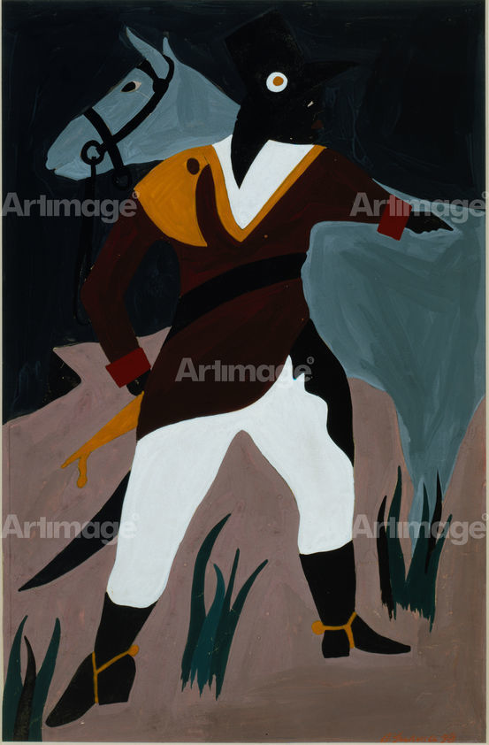 Enlarged version of The Life of Toussaint L'Ouverture, #26: On March 24, he captured Mirebalois, 1937-8