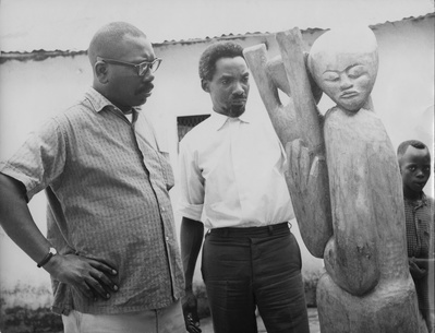 Jacob Lawrence with Dennis Williams, Ibadan, Nigeria, 1964