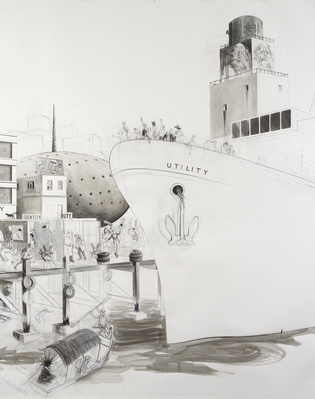 Untitled (View of the Port at Onomatopoeia) 18, 2009-2010