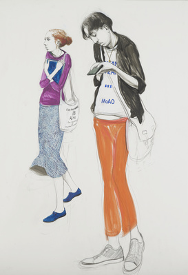 Untitled (Two Students), 2014