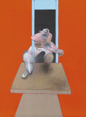 Figure in Movement, 1985 By Francis Bacon