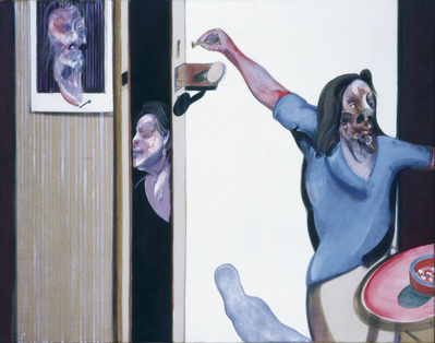 Three Studies of Isabel Rawsthorne, 1967  By Francis Bacon