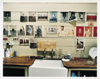 Kitchen at Francis Bacon's 7 Reece Mews Studio, London 1998