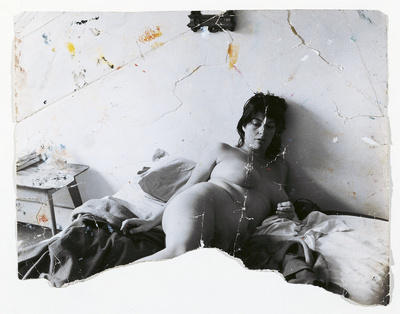Henrietta Moraes Lying Naked on a Bed, c. 1963