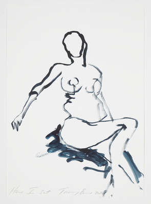 How I sat, 2014 By Tracey Emin