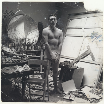 George Dyer in Underwear in Francis Bacon's Studio, c. 1965