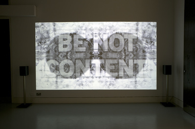 Be not content, 2011 By Mark Titchner
