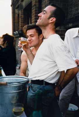 Steve Adamson and Philippe Bradshaw manning the outside bar ... By Abigail Lane