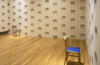 Bottom Wallpaper (Blue), Inked Chairs, 1992-97.  By Abigail Lane