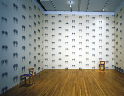 Bottom Wallpaper (Blue), Inked Chairs, 1992-97