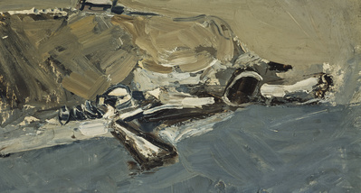 Sea and Snow, Catterline, c. 1958 By Joan Eardley