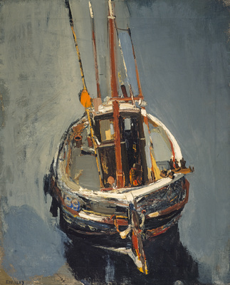 Seine Boat, c. 1960 By Joan Eardley