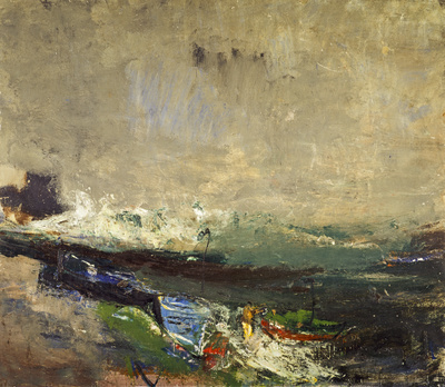 Boats on the Shore, c.1963 By Joan Eardley