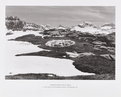 Throwing Snow into a Circle. A Seven Day Walk in the Glärnis... By Richard Long