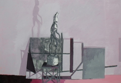 Private view card sculpture painting, (for outside), 2010