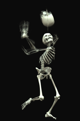 Juggling Skeleton, 2006 By Abigail Lane