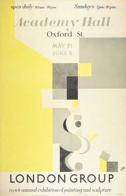 Poster for London Group, 1948 By Victor Pasmore