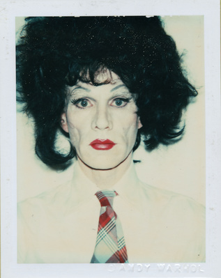 Andy Warhol in drag, 1981