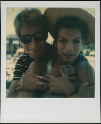 Yves Saint Laurent and Bianca Jagger, Venice 1973