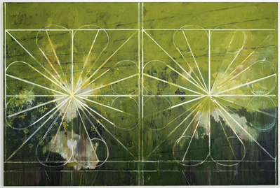 Double Grille, 2008 By Hurvin Anderson