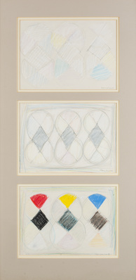 Three Drawings for White out, 1981