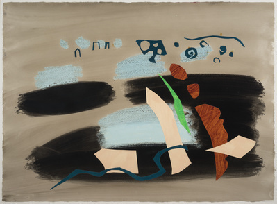 Abstract Landscape Collage, c. 1965 By John Piper