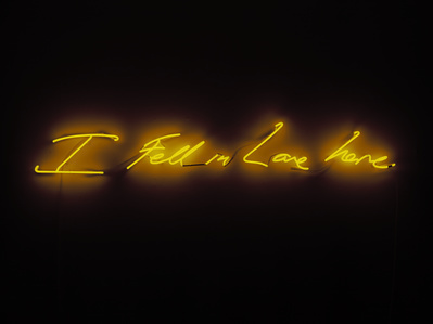 I Fell in Love Here, 2014 By Tracey Emin