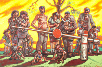 Barrier Sunset, 1995 By Peter Howson