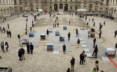 The Teaser, Somerset House, Installation during performance ...