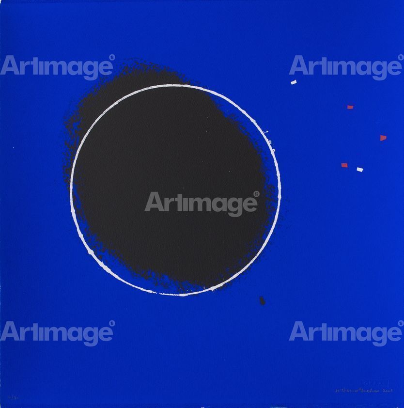 Enlarged version of White Circle Series I, 2003