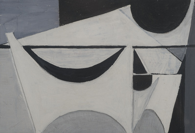 White Relief on Black and Grey, 1954 By Wilhelmina Barns-Graham