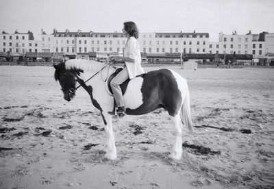 Tracey Emin making Riding for a Fall, Margate, 1998 By Johnnie Shand Kydd