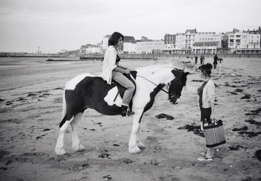 Tracey Emin with Abigail Lane while making Riding for a Fall, Margate, 1998