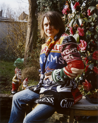 Sarah Lucas, de Beauvoir, London, 2003 By Johnnie Shand Kydd