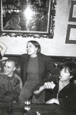 Russell Haswell, Sarah Lucas and Angus Fairhurst, O'Hanlon's... By Johnnie Shand Kydd