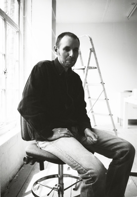 Glenn Brown, Studio, Clerkenwell, London, 1997 By Johnnie Shand Kydd
